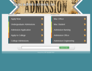 macadmissions.in screenshot