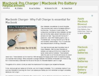 macbookprocharger.net screenshot