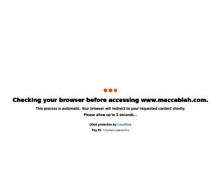 maccabiah.com screenshot