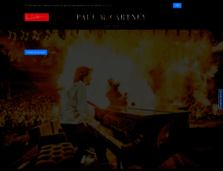maccaboard.paulmccartney.com screenshot