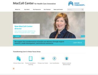 maccollcenter.org screenshot