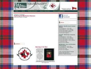 maccullochdancers.ca screenshot
