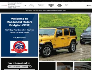macdonaldmotors.com screenshot