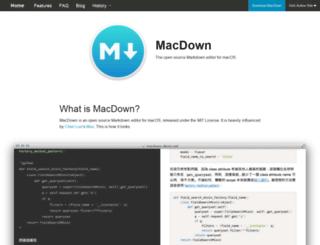 macdown.uranusjr.com screenshot