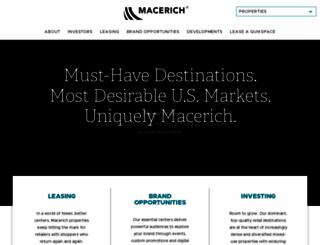 macerich.com screenshot