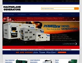 macfarlanegenerators.com.au screenshot