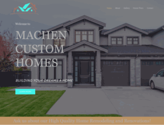 machencustomhomes.com screenshot