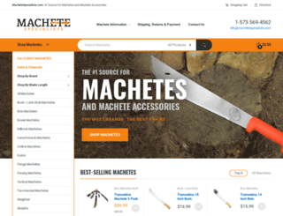 machetespecialists.com screenshot