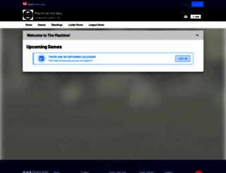 machinehockey.teamapp.com screenshot