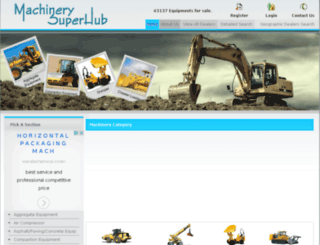 machinerysuperhub.com screenshot
