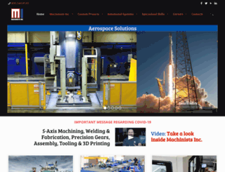 machinistsinc.com screenshot