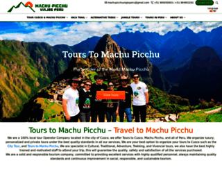 machupicchuviajesperu.com screenshot