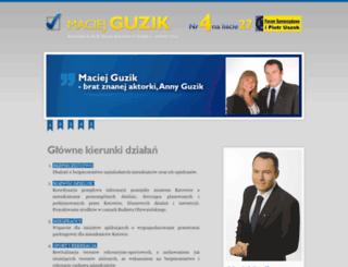 maciejguzik.pl screenshot