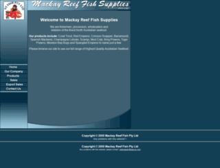mackayreeffish.com screenshot