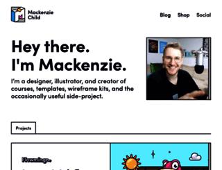 mackenziechild.me screenshot