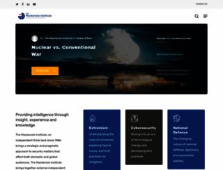 mackenzieinstitute.com screenshot