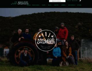 macleodorganics.co.uk screenshot
