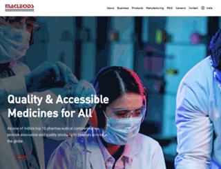 macleodspharma.com screenshot