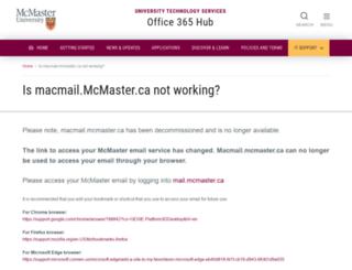 macmail.mcmaster.ca screenshot
