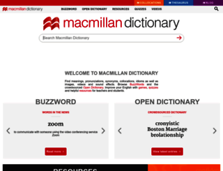 macmillandictionary.com screenshot