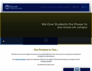 macomb.edu screenshot