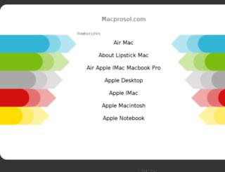 macprosol.com screenshot