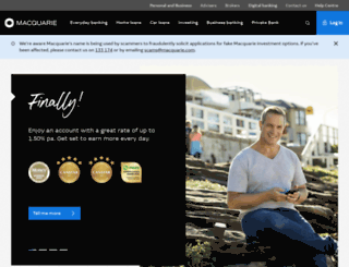 macquarie.com.au screenshot