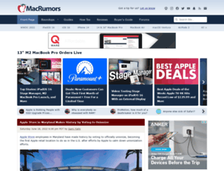 macrumors.com screenshot