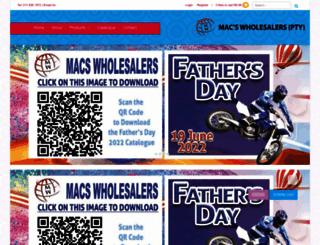 macswholesalers.co.za screenshot