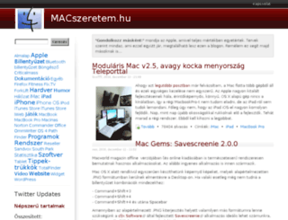 macszeretem.hu screenshot