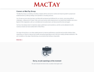 mactay.workable.com screenshot
