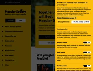 macularsociety.org screenshot