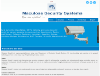 maculosesecurity.com screenshot