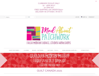 madaboutpatchwork.com screenshot