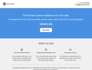 madame.com screenshot
