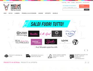 madamecosmetics.it screenshot
