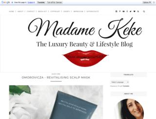 madamekeke.blogspot.de screenshot