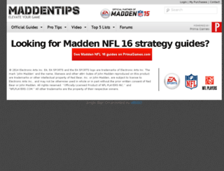 maddentips.com screenshot