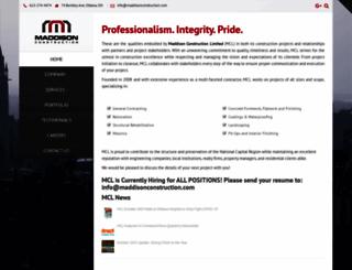 maddisonconstruction.com screenshot
