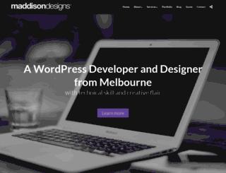 maddisondesigns.com screenshot