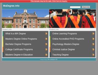 madegree.info screenshot