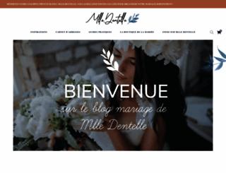 mademoiselle-dentelle.fr screenshot