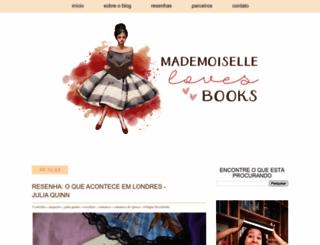 mademoisellelovebooks.blogspot.com.br screenshot