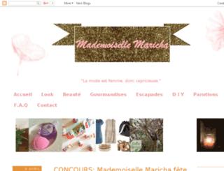 mademoisellemaricha.com screenshot