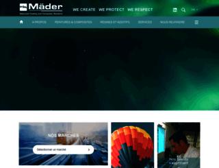 mader-group.com screenshot