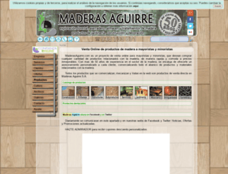 maderasaguirre.com screenshot