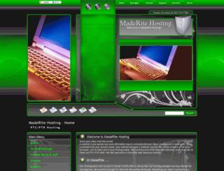 maderitehosting.com screenshot