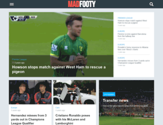 madfooty.com screenshot