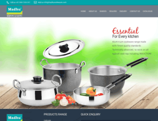 madhucookwares.com screenshot