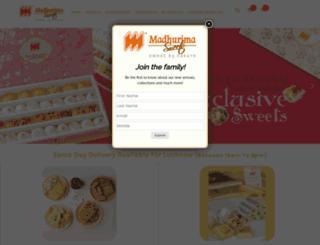 madhurimasweets.com screenshot